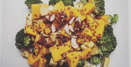 Foto receta tofu con brocoli y mango